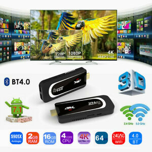 H96 Pro Plus TV Dongle Android 7.1 Amlogic S905X WiFi BT4.0 1080P HD TV Stick