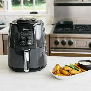 Ninja AF101 4 Quart Capacity Cooker Gloss Finish Air Fryer For Crisps and Dehydrates