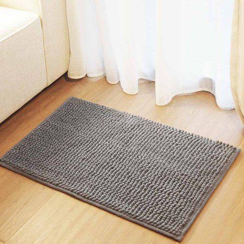 Qualitell Chenille Floor Mat Super Absorbent Skin Touch Non-slip Mat For Home