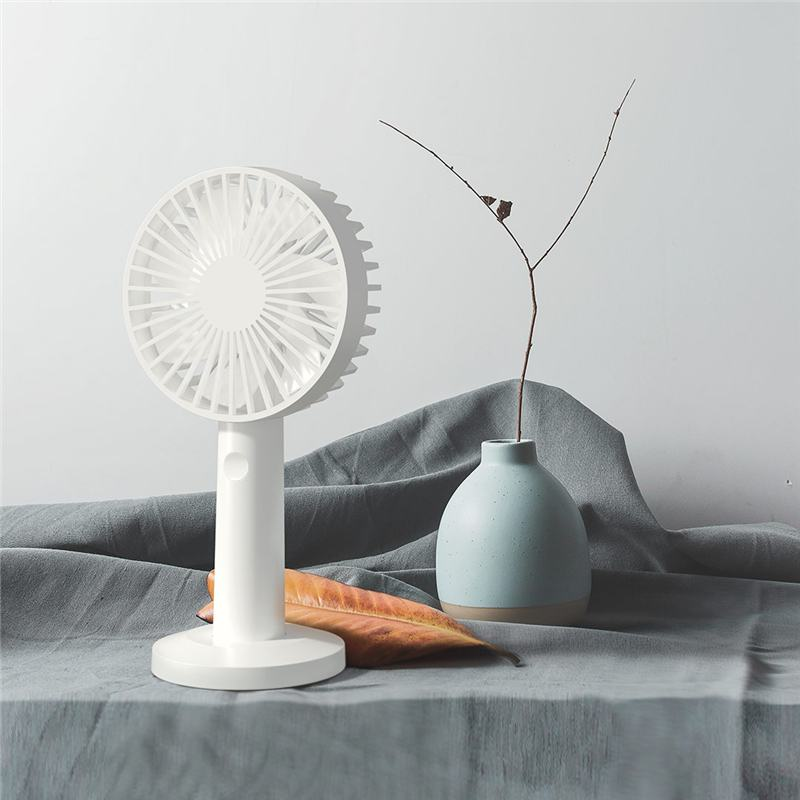 Qualitell USB Rechargeable Portable Fan Handheld Fan With Stand Function