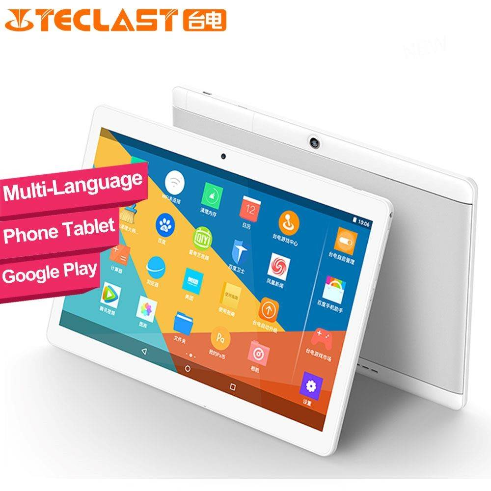 Teclast X10 10.1 inch 3G Phablet 1GB RAM 16GB ROM Android 6.0 OS Budget Tablet