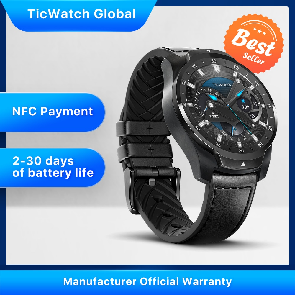 TicWatch Pro NFC Payment Smart Watch iOS & Android Global Version Waterproof Smartwatch
