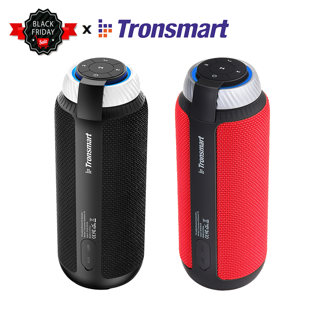Tronsmart Element T6 360 Portable Bluetooth Stereo Speaker with Deep Bass And Built-in Mic