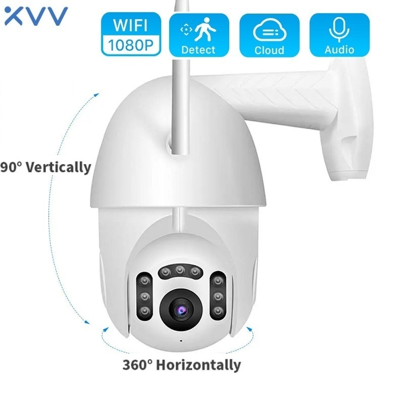 Xiaovv B7 Smart WiFi Network Camera Outdoor Waterproof 360 PTZ IP Security Monitor