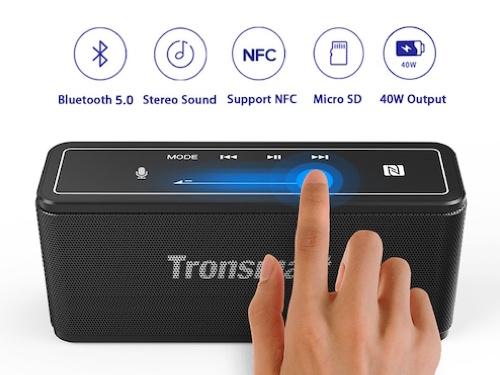 Tronsmart Mega Wireless Portable Speaker Voice Assistant Touch Panel Bluetooth 5.0 Stereo Speaker