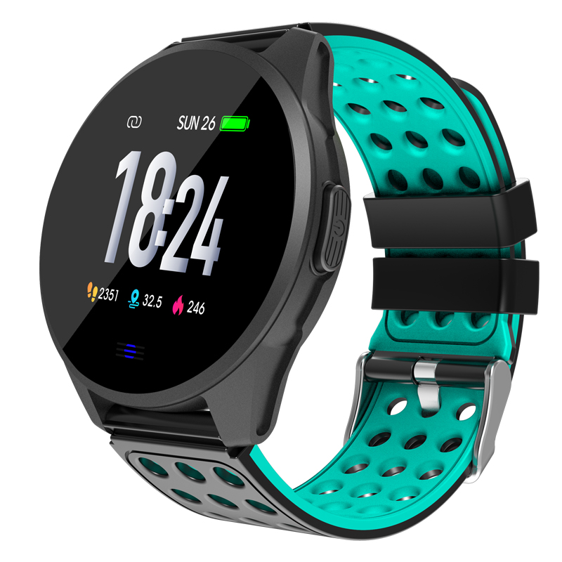 Bakeey CK20S Long Battery Life Smartwatch Tempered Glass Watch With Carbon Fiber Case