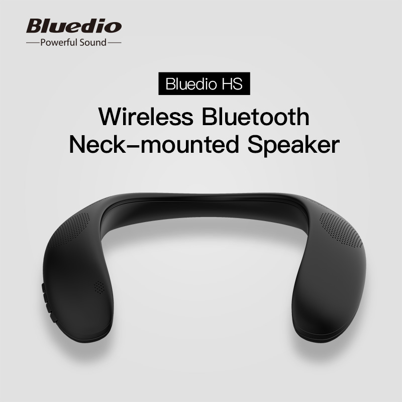 Bluedio HS Neck Bluetooth 5.0 Speaker Portable High Bass Wireless FM Radio Wit SD Card Slot