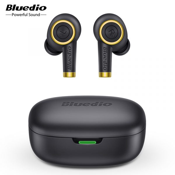 Bluedio Particle TWS Wireless Headphones with Charging Case Waterproof Sports In-ear Bluetooth Earbuds