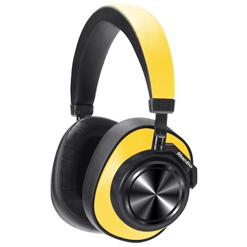 Bluedio T7 Bluetooth 5.0 Headset Active Noise Canceling HIFI Sound loudspeaker Face Recognition Headphone
