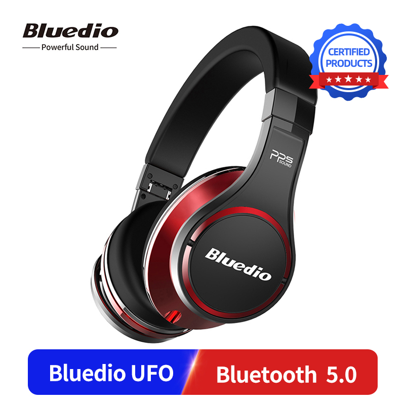 Bluedio UFO Wireless HD Bluetooth 5.0 Over Ear Headset 3D DSP Stereo Sound Headphones