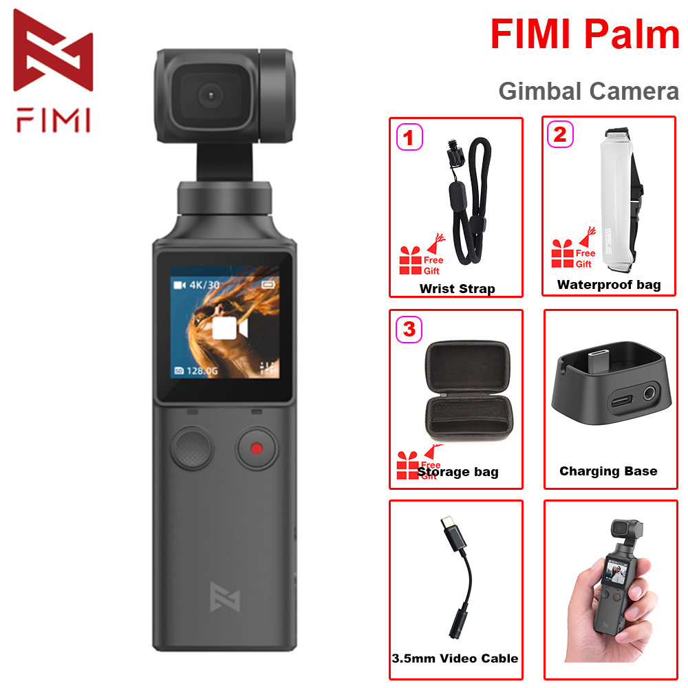 FIMI PALM 3-Axis 4K HD Handheld Gimbal Camera Stabilizer 128° Super Wide Angle Anti-shake Built-in Wi-Fi Bluetooth