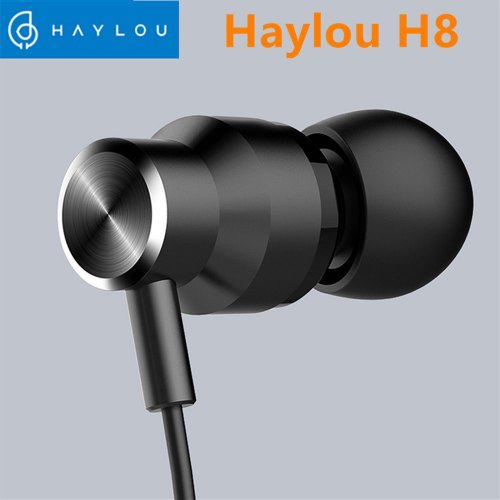 Haylou H8 Stereo Wired Earphones Function Wire Control 3.5mm Headset With Mic