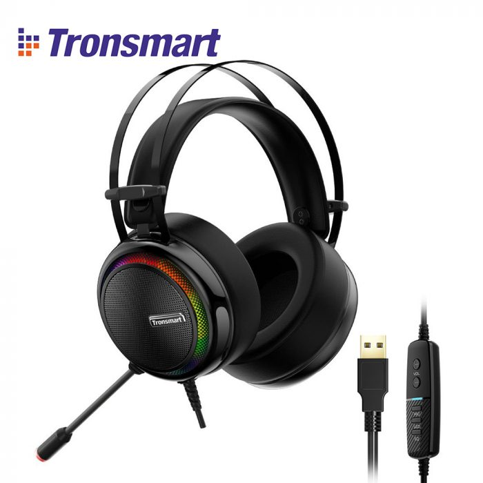 Tronsmart Glary Gaming Headset 7.1 Virtual Surround Sound Stereo Colorful LED Headphones