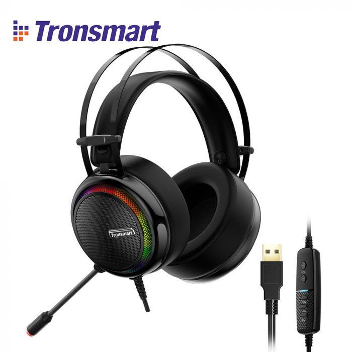 Tronsmart Glary Gaming Headset 7.1 Virtual Surround Sound Stereo Colorful LED Headphones