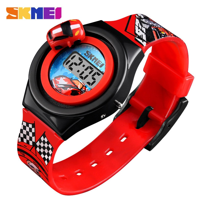 SKMEI Children Watch Creative Cartoon Car Children's Fashion Digital Electronic Watch