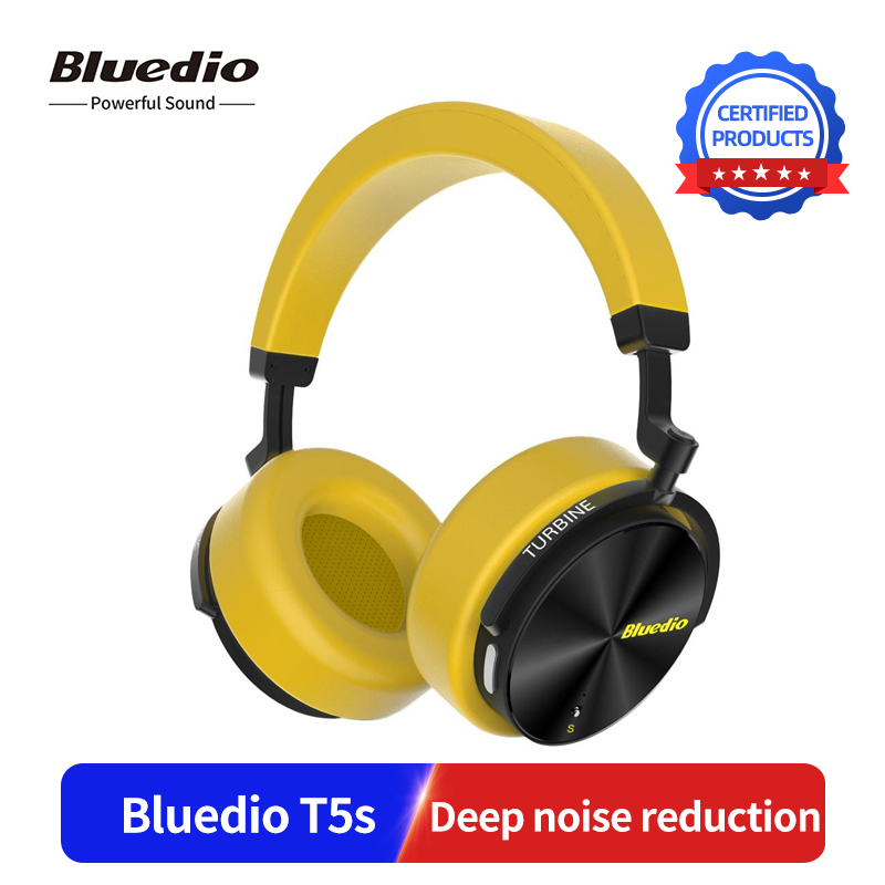 Bluedio T5S Wireless Headset 3D Stereo Sound Active Noise Cancelling Bluetooth Headphone