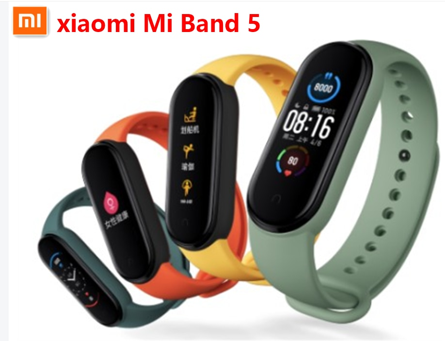 Xiaomi Mi Band 5 Sports Model Smart Fitness Tracker 1.1″ Color Screen Magnetic Charging Bluetooth Band