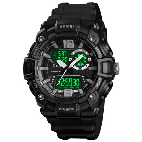 SKMEI 1529 Sport Men Outdoor Watch Multi-Function Dual Display Digital Waterproof Luminous  Watch