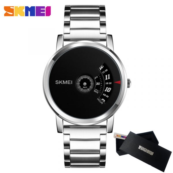 SKMEI 1260 Men's Alloy Quartz Watch Waterproof Stainless Steel Fashion Male Watches