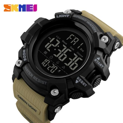 SKMEI 1384 Men Outdoor Watch Pedometer Calorie Chronograph Casual Digital Military Smart Watch