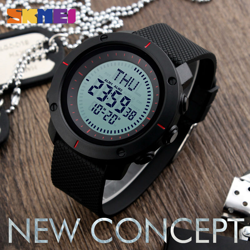 SKMEI 1216 Outdoor Big Dial Function Sports Watches 5Bar Waterproof Chronograph Watch