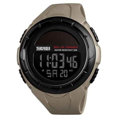 SKMEI 1488 Solar Power 50M Water Resistant Outdoor Shockproof Digital Chrono Watch