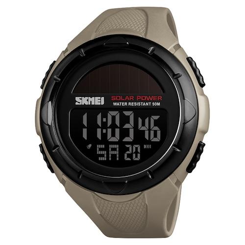 SKMEI 1488 Solar Power 50M Water Resistant Outdoor Shockproof Digital Chrono Watch
