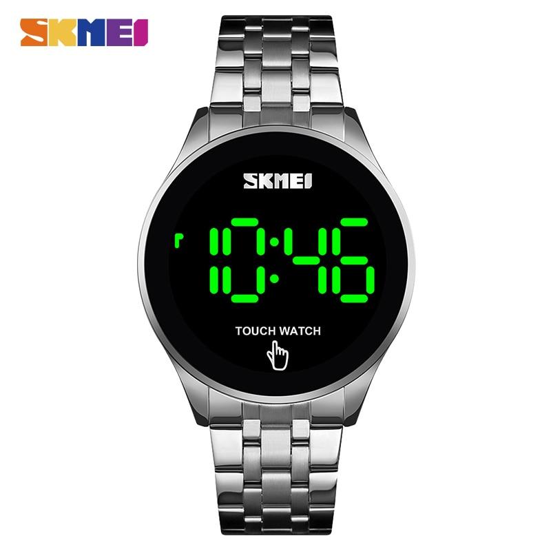 SKMEI LED 1579 Light Touch Screen Digital Watch 30M Waterproof Stainless Steel Watch