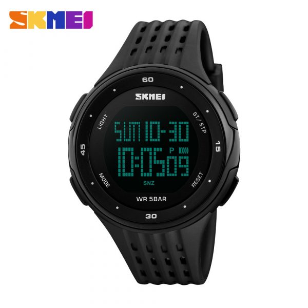 SKMEI 1219 Large Dial Watch LED Digital Waterproof Functional Quartz Analog Watch