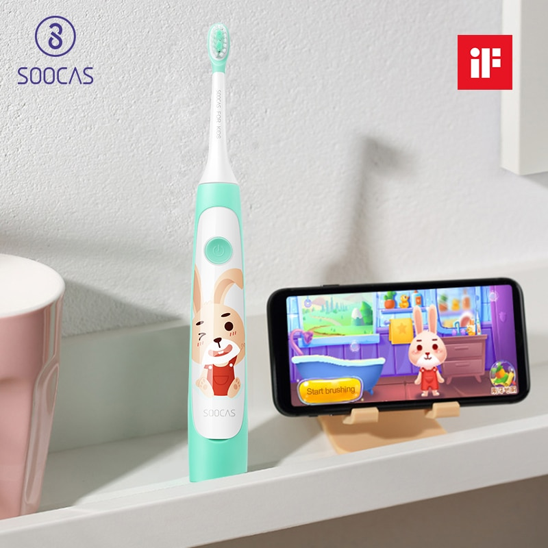 SOOCAS C1 Children Ultrasonic Rechargeable Electric Toothbrush Kids Cleaning Toothbrush