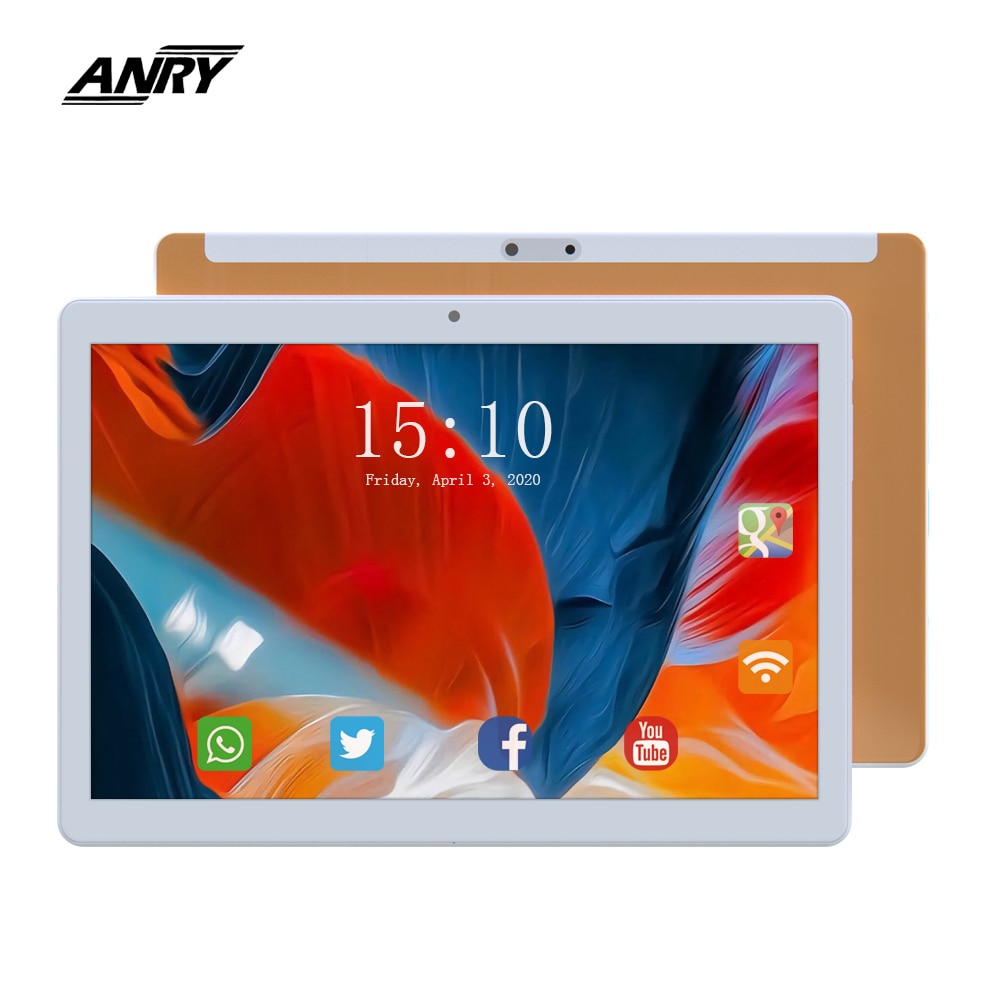 ANRY 10-inch Tablet Dual SIM Card 3G Phone Call 16GB Budget Tablet PC With Camera