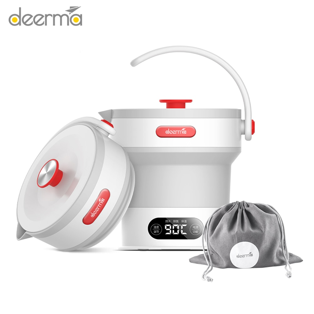 Deerma DH300 0.6L Folding Kettle Capacity Stainless Steel Household Quick Boiling Electric Kettle