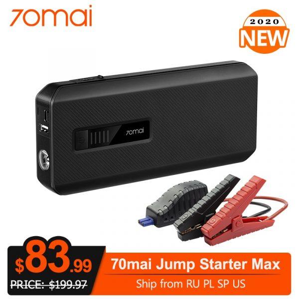 70mai 18000mah 1000A 12V Car Battery Booster 8.0L Car Charger Starting Device Power Bank Car Jump Starter