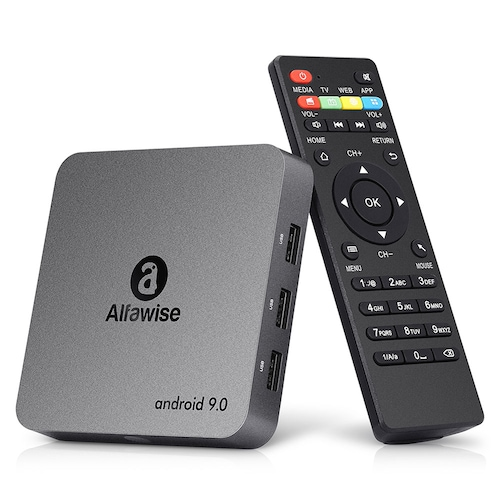 Alfawise A8 NEO Android 9.0 TV Box Quad Core CPU Ultra HD 4K LED Breathing Light Set To Box