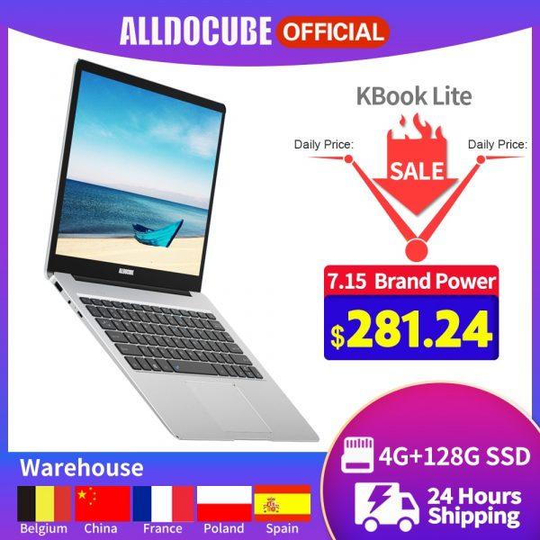 ALLDOCUBE KBook Lite Laptop 13.5 inch 180-degree 3K IPS Touch panel Display Intel Apollo Lake N3350 4GB 128GB SSD Notebook