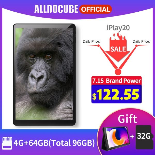 Alldocube iPlay 20 Tablet PC 10.1-inch Dual Camera 4GB + 64GB 4G LTE Android 10.0 Tablet