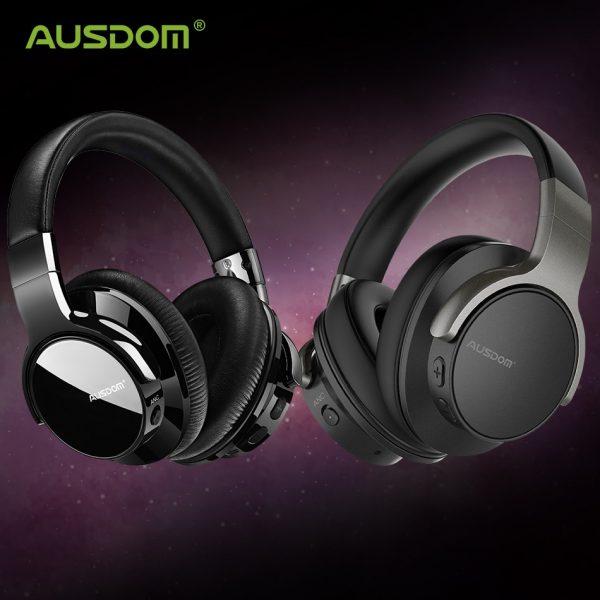 Ausdom ANC8 Active Noise Cancelling Wireless Headset Super HiFi Bluetooth Headphones