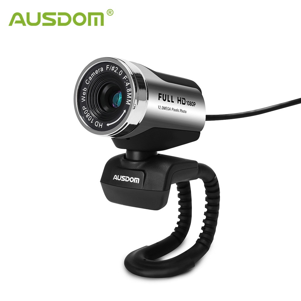 Ausdom AW615 PC Camera with 12MP USB 2.0 USB HD Webcam 1920x1080P for Video Calling