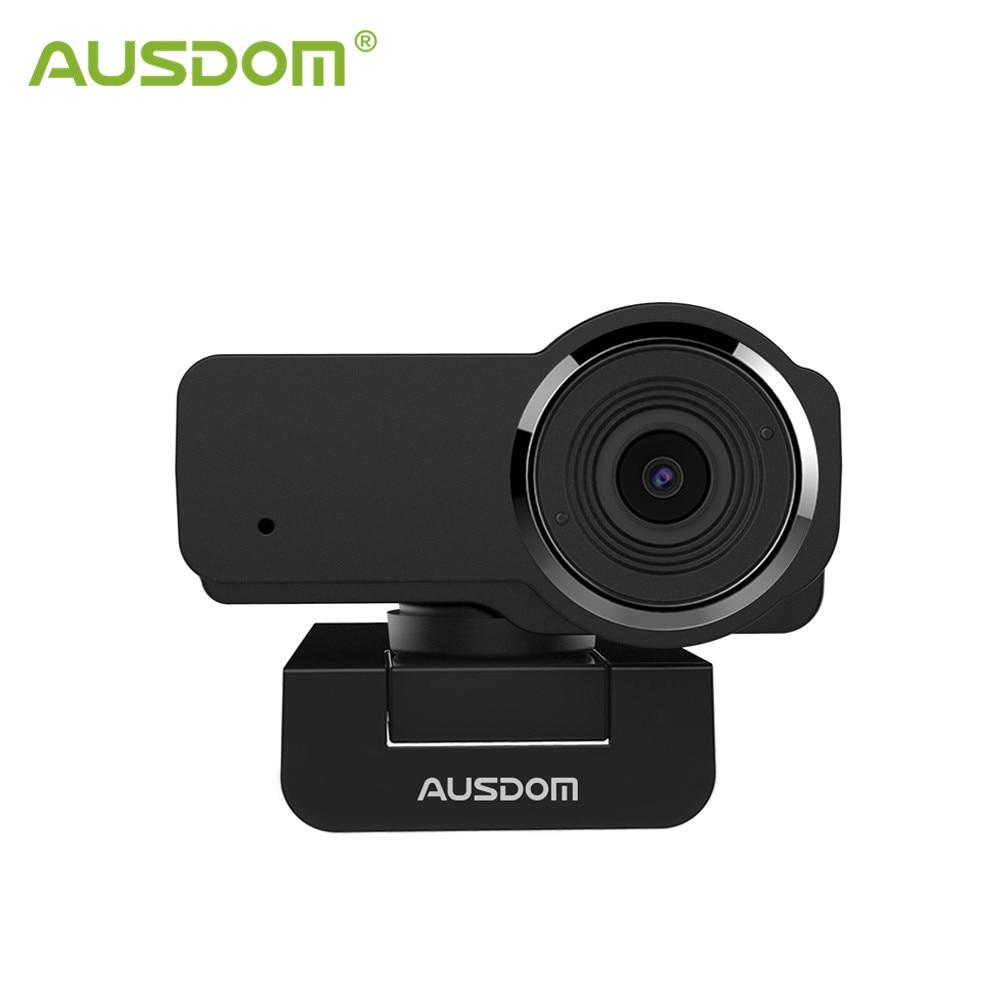 AUSDOM AW635 HD 1080P Webcam Noise-cancelling Mic Video Conversations PC Web Camera