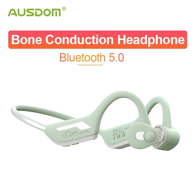 AUSDOM J31 Wireless Headphone Bone Conduction Bluetooth 5.0 Earphone CVC8.0 Noise Reduction Sports Headset