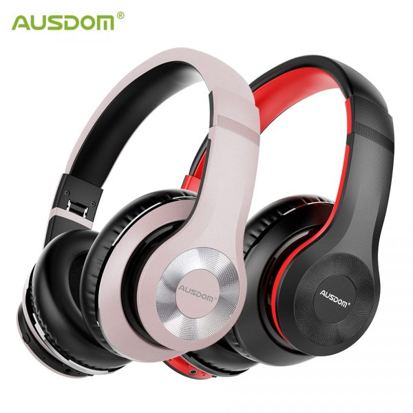 Ausdom ANC10 Wireless Foldable Headphones 30H Play time Hifi Active Noise Cancelling Bluetooth Headset