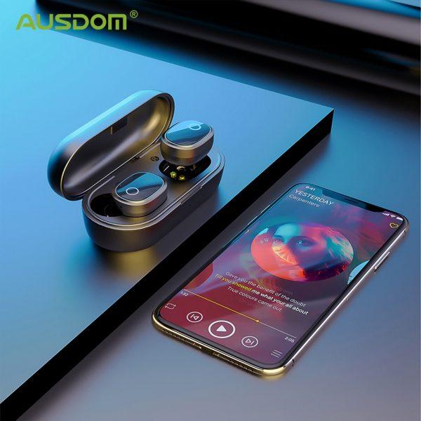 Ausdom TW01S Bluetooth Earbuds Wireless Earphones Dual Mic In-Ear Handsfree Sports Headsets