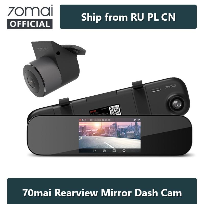 70mai D04 Dash Cam Mirror 5-inch 1600P Car DVR 24H Parking Night Vision Smart Rearview Mirror