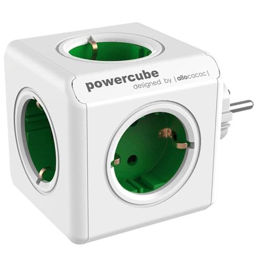 Gocomma 1100 Magic Cube 5 Socket Travel Charger EU Plug 250V 16A 3680W Dual USB 2.1A 5V Adapter