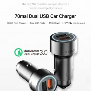 70mai QC Dual USB Car Charger