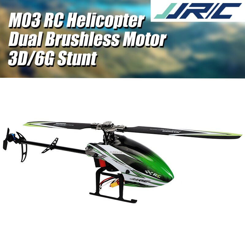 JJRC M03 2.4G 6-axis Gyroscope 6CH Dual Brushless Motor 3D 6G RC Helicopter Single Blade 2020 Version
