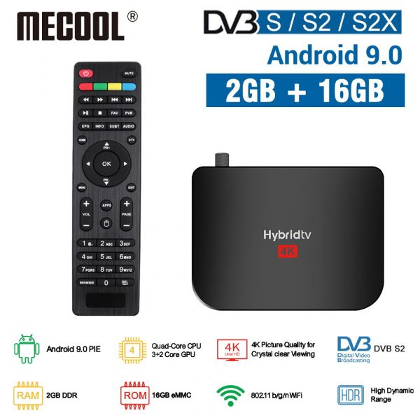 MECOOL M8S PLUS S2 DVB Smart TV BOX Amlogic S905X2 Quad Core WiFi Youtube Set Top Box