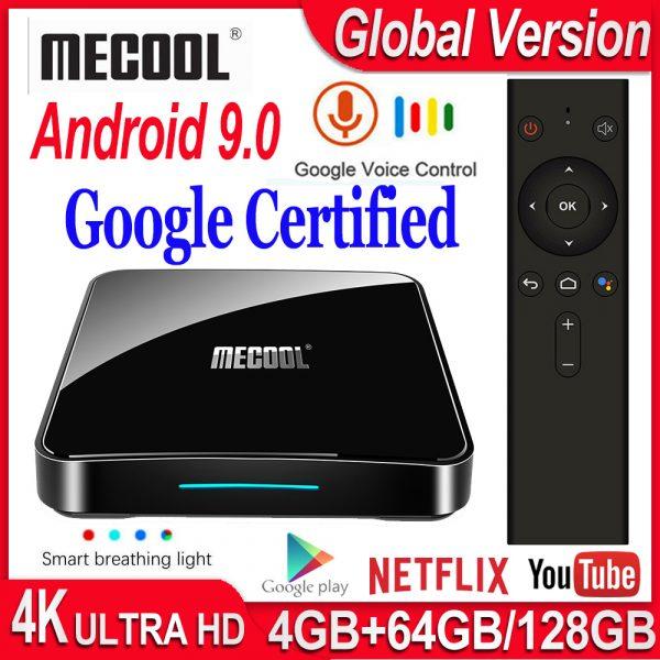MECOOL KM9 Pro Google Certificated Voice Control TV Box Amlogic S905X2 2GB-4 GB RAM + 16GB-32GB-64 GB ROM