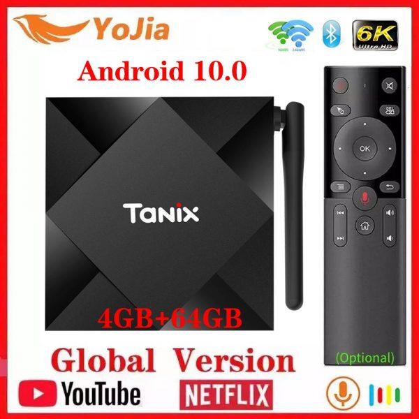 Tanix TX6S Android 10 TV Box Smart Set Top Box Allwinner H616 Quad Core 4K Media Player