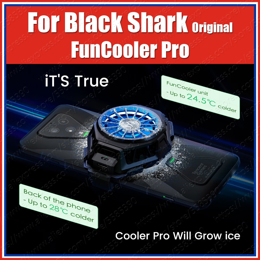 Black Shark FunCooler Pro Adjustable Cooling Fan For smartphones Xiaomi Liquid Fun Cooler